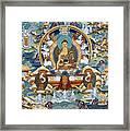 Golden Medicine Buddha Thangka Framed Print