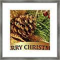 Golden Merry Christmas  Framed Print