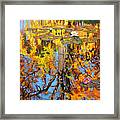 Golden Reflections On Lily Pond Framed Print
