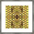 Golden Stained Glass Framed Print