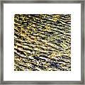 Golden Water On Mountain Lake Framed Print