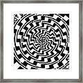Gradient Tunnel Spin Maze Framed Print