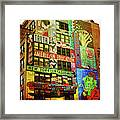 Graffitti On New York City Building Framed Print