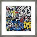 Grafitti On The U2 Wall, Windmill Lane Framed Print