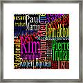 Graphic Prime Ministers Framed Print