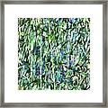 Green Bamboo Tree In A Garden Framed Print