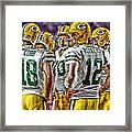 Green Bay Packers Team Art 2 Framed Print