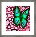 Green Butterfly Framed Print by Brenda Higginson