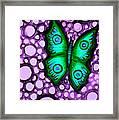 Green Butterfly II Framed Print by Brenda Higginson