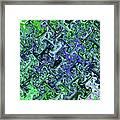 Green Crystal Digital Abstract Framed Print