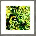 Green Glass Framed Print