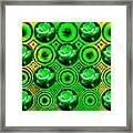 Green Polka Dot Roses Fractal Framed Print