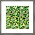 Green Steps Abstract Framed Print