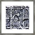 Grid Framed Print by Dave Kwinter