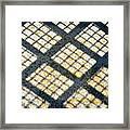 Grid Shadow On Concrete Framed Print