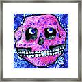 Grumbles The Discontent Purple Framed Print