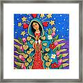 Guadalupe With Stars Framed Print
