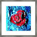 Gum Wrapper - Blue Framed Print