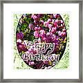 Happy Birthday - Greeting Card - Almond Blossoms No. 1 Framed Print