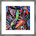 Hat And Guitar Framed Print