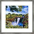 Hawaiian Paradise Falls Framed Print by David Lloyd Glover