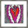 He She Heart Framed Print