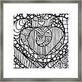Heart Crown Tangle Framed Print