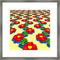 Heart Flowers Framed Print