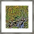 Hellbrook Cascades In Autumn Framed Print