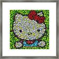 Hello Kitty Mm Candy Mosaic Framed Print