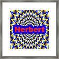 Herbert Framed Print