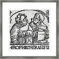 Herophilos, Erasistratus, Ancient Greek Framed Print