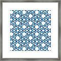Hexagonal Snowflake Pattern Framed Print