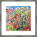 Hibiscus And Friends Framed Print