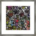 Hide And Seek In Wildflower Bushes Framed Print