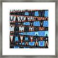 High Rise Construction Abstract # 4 Framed Print