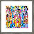 Hindu Trinity Brahma Vishnu Shiva Framed Print