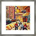 Hockey Fever Hits Montreal Bigtime Framed Print