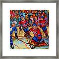 Hockey  Hero Framed Print