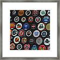 Hockey Pucks Framed Print