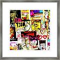 Hola Barcelona Framed Print