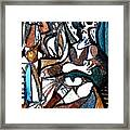 Homage To Digital Picasso Framed Print by Mindy Newman