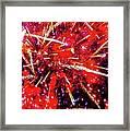 Honolulu Fireworks Framed Print