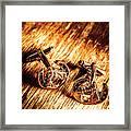 Horse Racing Cuff Links Framed Print