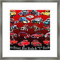 Car Show And Shine Poster Framed Print
