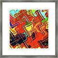 Hot Tile Reflection Framed Print