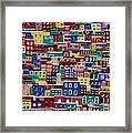 Houses On The Hill Framed Print