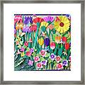 Hummingbird's Delight By Mary Ellen Palmeri Framed Print