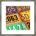 I Run Across A Lot Of Plates Too Old Framed Print