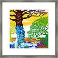 If A Tree Falls In Sicily Color 2 Framed Print